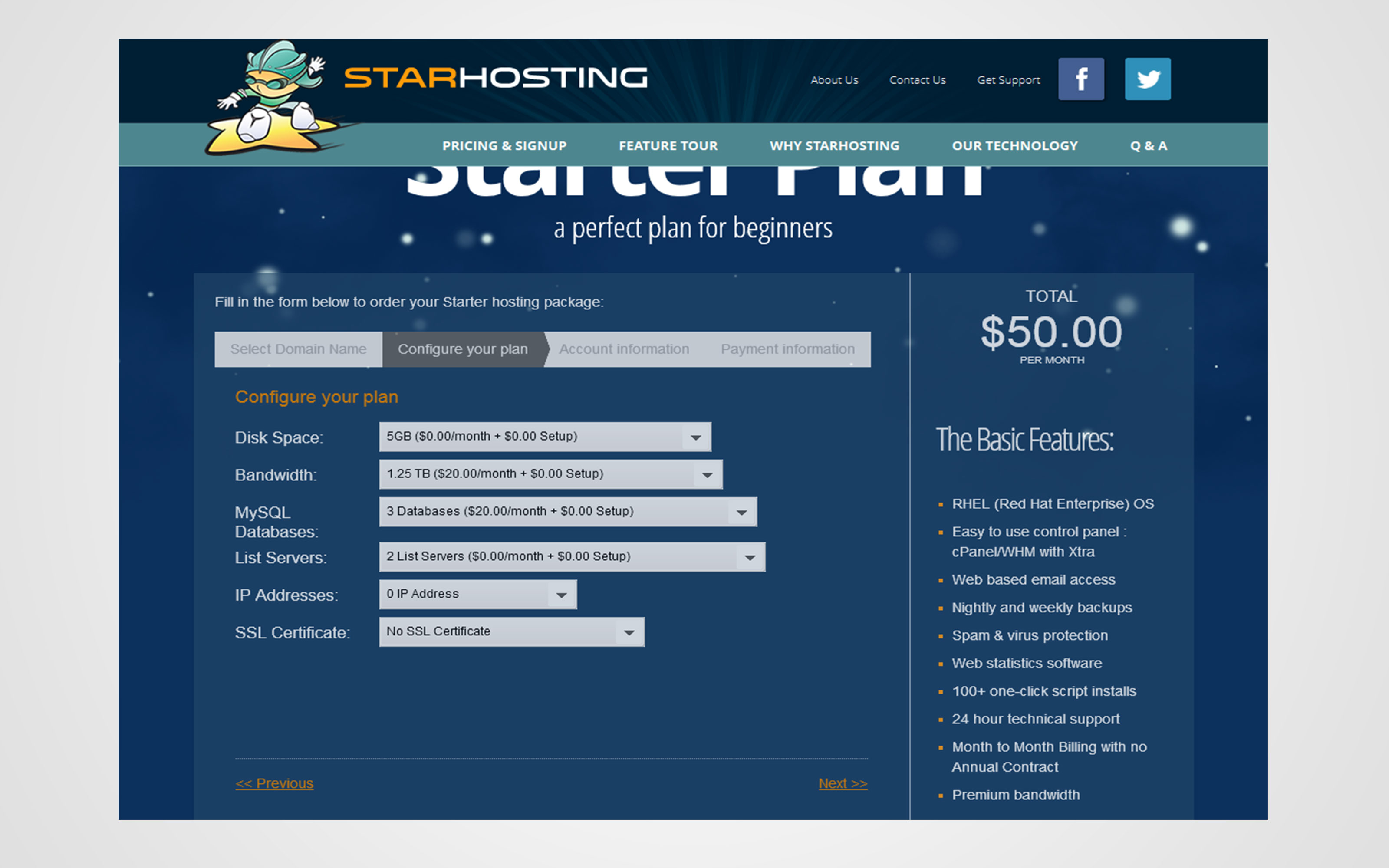 Custom Ubersmith Order Form Development for Star Hosting